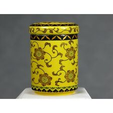 "Chinesische Teedose Porzellan ""Des Kaisers Chrysanthemen"", Keramik"