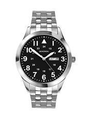 Sekonda Gents Stainless Steel Bracelet Watch Black Dial 1663