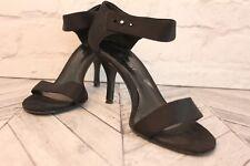 Nine West Black Satin Open Peep Toe High Heel Stiletto Sandals Shoes RRP £79 US8