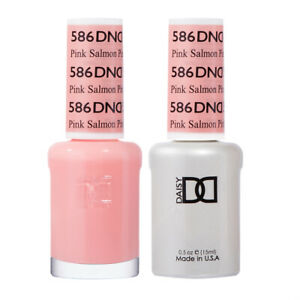 DND Daisy Duo Gel W/ matching nail polish -DIVA COLLECTION- PINK SALMON -586