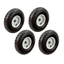 Hand Truck Garden Cart Gorilla 10 in Wheels Tires Replacement Hand, 4 Pack