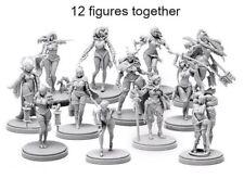 █ 30MM Resin Kingdom Pinup Death 2 Collection 12 Figures Unpaint Unbuild KD001