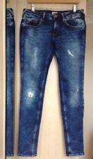 Hilfiger Denim Indigo Wash Frayed Skinny Jeans, Size 30 Waist/32 Length
