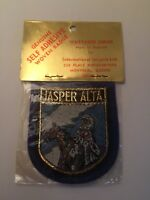 New Vintage Jasper Alberta Self Adhesive Sew On Patch Native Indian Canada NOS