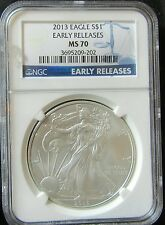 2013 USA Early Release NGC MS70 Silver Liberty Eagle 1oz $1 One Dollar Coin