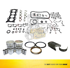 Bearing, Full Gasket & Pistons Set For 90-95 Honda Prelude Accord 2.2 L SOHC F2