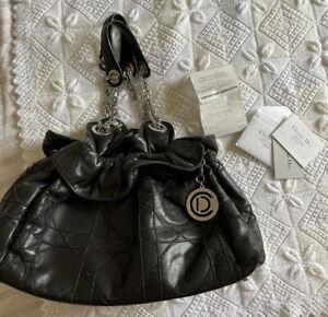 Christian Dior Tote Bag Handbag cannage bag Le Trente With Receipt And Card