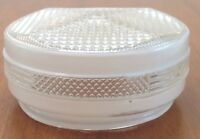 Ceiling Light Globe Shade Glass Art Deco Geometric White Clear Pattern Vintage