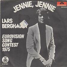 "LARS BERGHAGEN JENNIE JENNIE EUROVISION SONG 1975 RECORD YUGOSLAVIA 7"" PS"