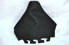 Costura negra se adapta a Seat Cordoba Ibiza Mk3 6l 2002-2008 Gear polaina De Cuero