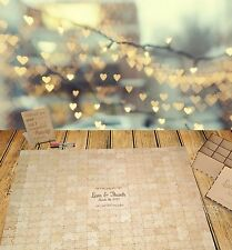 Wedding 308 pcs Jigsaw Puzzle Guestbook alternative, wooden, rustic, engagement