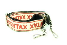 Vintage Pentax SLR Red & White Camera Strap