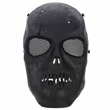 Airsoft Mask Skull Full Protective Mask - Black A6S6