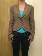 Womens H&M Wool And Silk Blend Tweed Blazer - Eur Size 34 (UK Size 8)