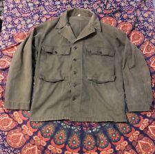 WW2 USMC 13 Star Button HBT Shirt/Jacket Named Size 38 Reg