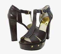 Michael Kors Womens Beatrice Platform Open Toe Ankle T Strap Fashion Heels Shoes