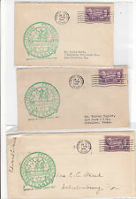 #776 Corpus Christi TEXAS Centennial 3 Covers 6/8/1936 OFFICIAL Spain Discovered