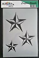 Stencil by Aurora Arts A4 Decorative star 190mic Mylar craft stencil 244