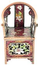 Antique Oriental Chair Jewelry Trinket Box 003 Crystal Enameled Bejeweled Hinge