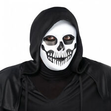 Adult Death Black & Bone Skull Skeleton Horror Scary Mask Halloween Accessory