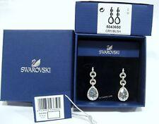Swarovski  5043650 Adore Pierced Earrings, Drop-Shade Blue/Clear Crystal MIB