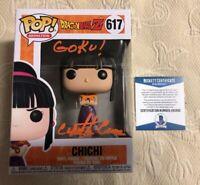 Cynthia Cranz  Signed Autographe Chi Chi Funko Pop Dragon Ball Z BECKETT COA 8