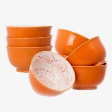 "7 Days 7 High Quality Large 6"" Ceramic Cereal Soup Pasta Bowls Ceramic Bowl Set"