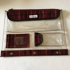 Mary Kate And Ashley Binder Pencil Pouch School Supplies Plaid Clear