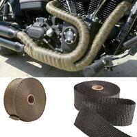 de calor de la fibra Fibra de vidrio Tubo de escape cinta Thermal Wrap