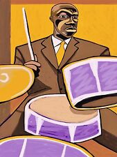 ART BLAKEY PRINT poster drums cymbal jazz messengers moanin cd blue note ugetsu