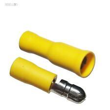 100 Paar Rundsteckverbinder für Kabel 4,0-6,0mm² GELB