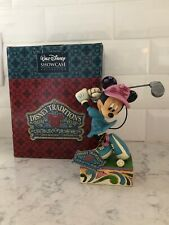 "Jim Shore Disney Traditions Showcase Minnie Mouse.  ""I'd Rather Be Golfing ""."