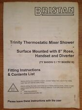 INSTRUCTIONS MANUAL Quick User's Guide Bristan Thermostatic Mixer Shower GENUINE