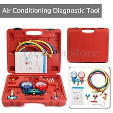 Refrigeration R-134A Air Conditioning AC Diagnostic A/C Manifold Gauge Tool Set