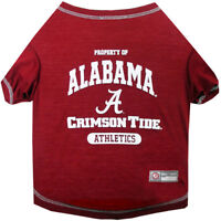 Alabama Crimson Tide Pets First Officially Licensed NCAA Dog Pet Tee Shirt, Red