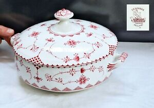Elegant Original Vintage FURNIVALS DENMARK Pattern Lidded Ceramic Tureen
