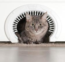 Purrfect Portal Cat Door for Interior Doors with Grooming Brush ~ New Open Box