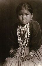 Silversmith's Daughter Navajo Girl, Native American Indian, Jewelry etc Postcard