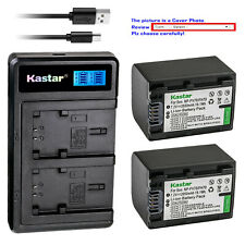 Kastar Battery LCD Dual Charger for NP-FV70 NPFV70 & Sony HDR-XR350 HDR-XR350VE