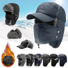 Winter Warm Trapper Trooper Hat Ear Flap Face Mask Bomber Aviator Ski Cap Unisex