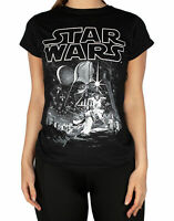 Star Wars A New Hope Poster Women's Black Tee T-Shirt