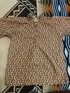 Civil War cowboy action SASS boy's shirt brown & cream floral size 12 US made