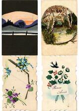 HANDMADE PAINTED 200 Vintage Postcards Pre - 1940