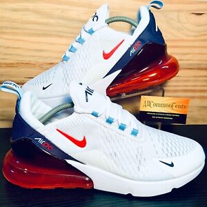 Nike Air Max 270 Men's Running Shoes Size 12 Red White Navy Blue NEW DJ5172-100