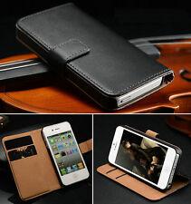 étui à rabat portefeuille cuir pour Apple iPhone 6 6S 7 7 Plus 4 5 5S SE