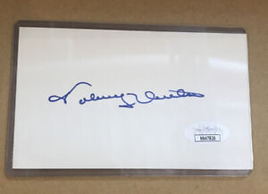 JOHNNY UNITAS SIGNED 3 X 5 INDEX CARD BALTIMORE COLTS D.2002 JSA CERTIFIED AUTO!