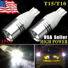 2 X NEW T10 / T15  High Power Reverse Backup LED Light Bulbs 921 912 168 US