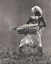 1930's Vintage CEYLON Sri Lanka Semi NUDE Male Drum Music Photo Art LIONEL WENDT