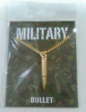 Militar Rifle bala de oro en una cadena de oro