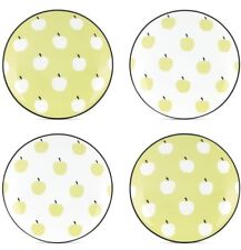 "Kate Spade By Lenox ""Wickford Orchard"" Tidbit Plates NWT Apples Party Chic Lunch"